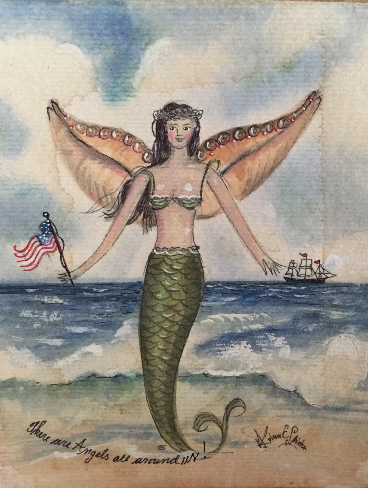 kolene spicher  patriotic mermaid angel