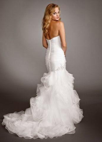 Vestido de Novia Sirena con Aplicaciones Plateadas