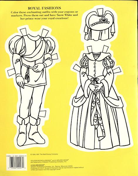 Snow White Paper Doll Books