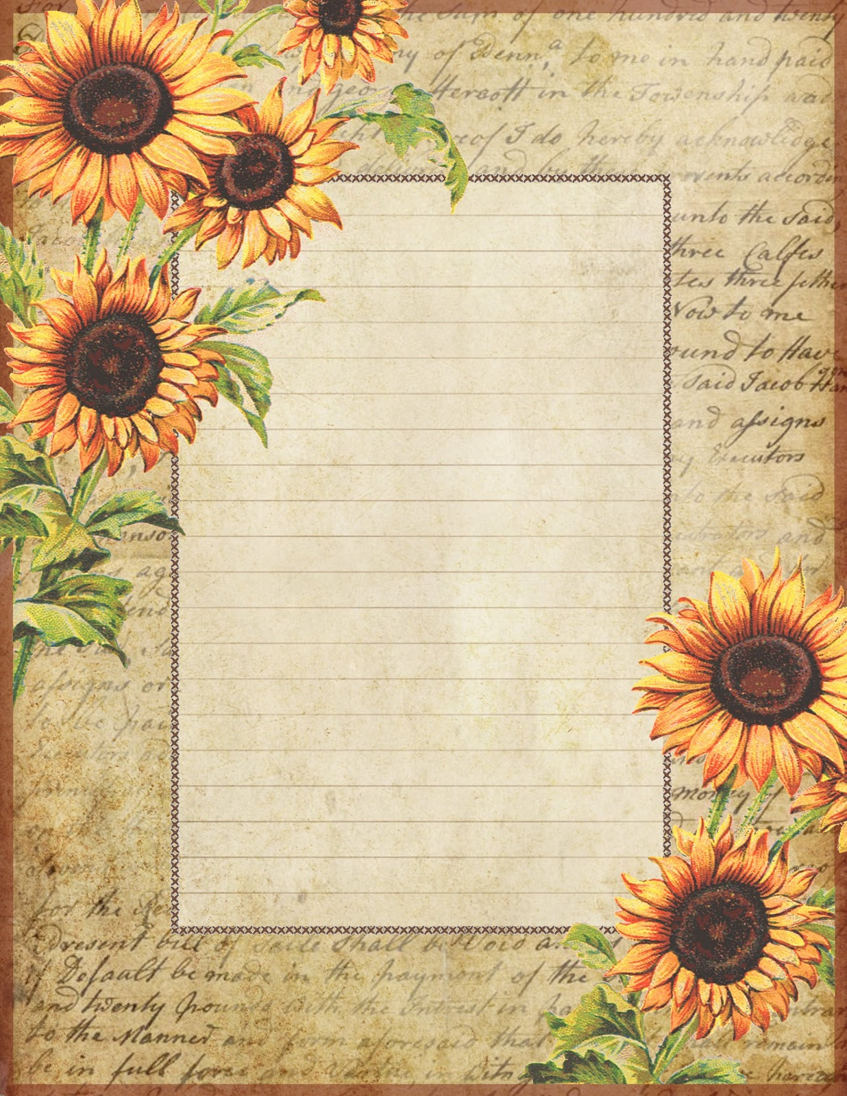 Adorable image in sunflower printable