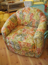 Tropic Print Swivel Chair