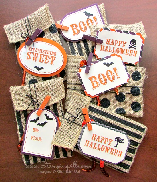 Cute Halloween treat bag idea - Monthly craft kit by Stampin' Up!
