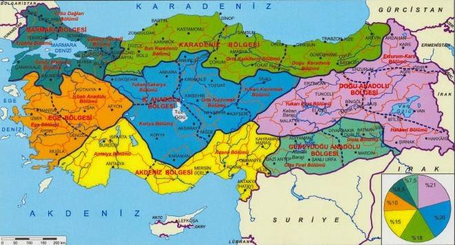 T�rkiye'nin Co�rafi B�lgeleri Haritas�