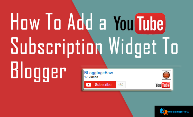 add youtube subscription widget to blogger