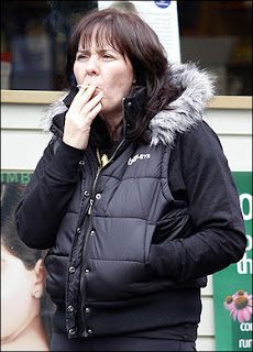 Coleen Nolan Smoking Cigarettes