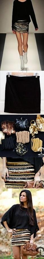 Cómo transformar una falda para la fiesta de Fin de Año