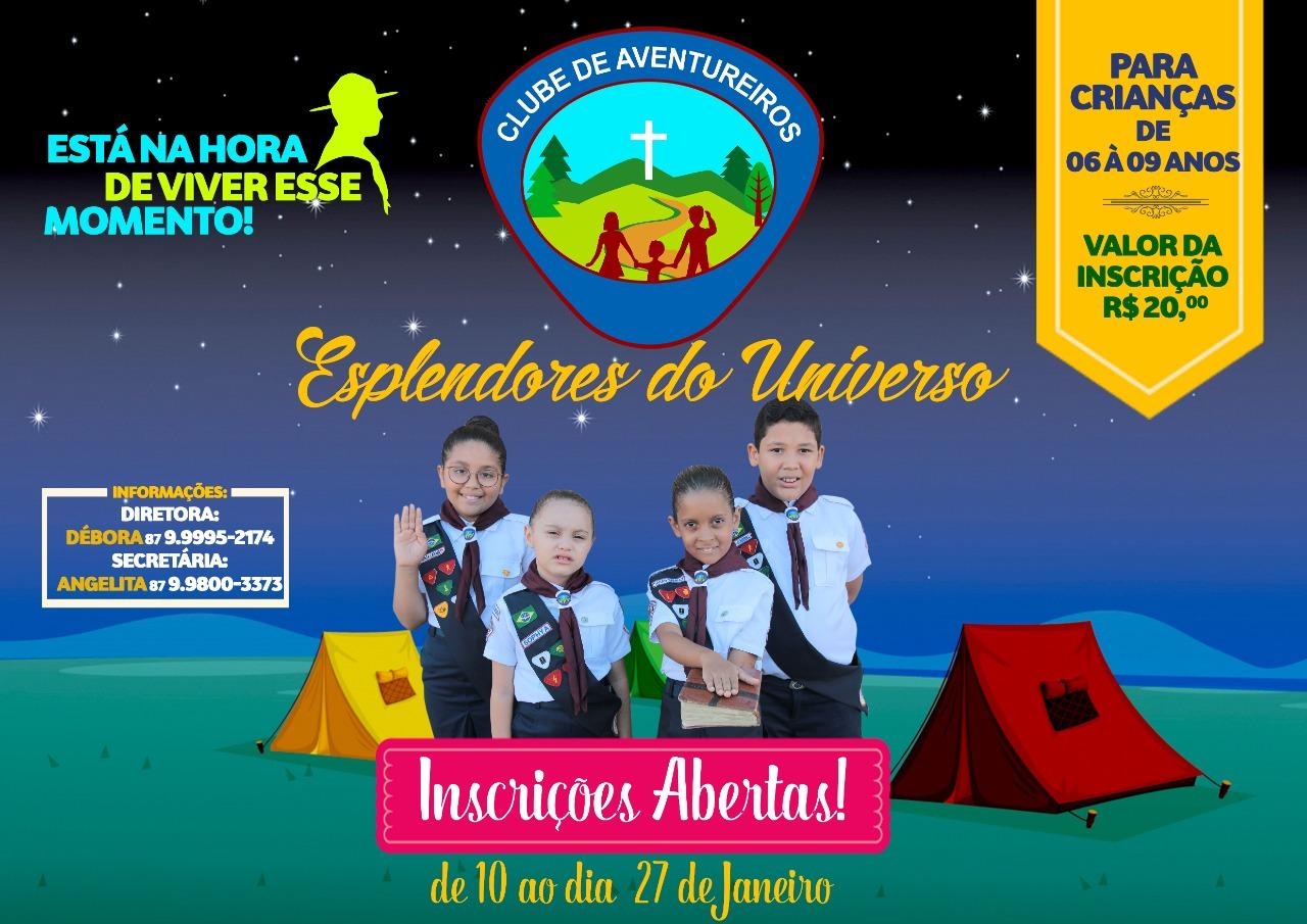 CLUBE DE AVENTUREIROS Igreja Adventista- Petrolândia -PE