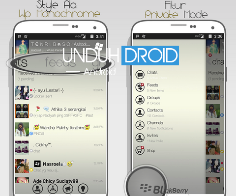 BBM Mod Windows Phone Monochome Android
