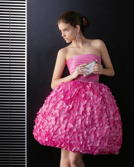 Fiesta Short Pink Cocktail Dresses by Rosa Clara
