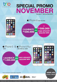 Promo iPhone 6 dan 6 Plus November 2015 di Global Teleshop