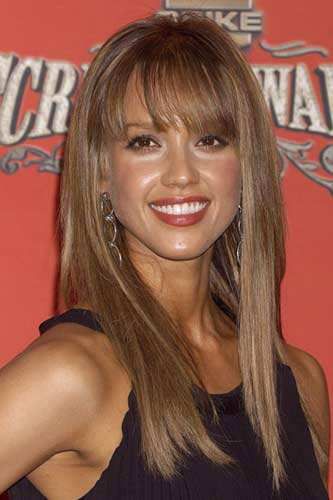 jessica alba 2011 haircut. Hairstyles with Fringe