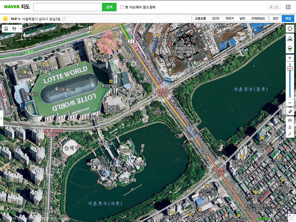 원 Tips Comparing Map Sites In Korea Naver Daum Google Bing - Google map satellite zoom