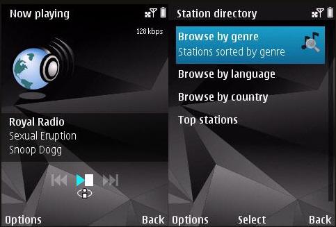 интернет радио на нокиа