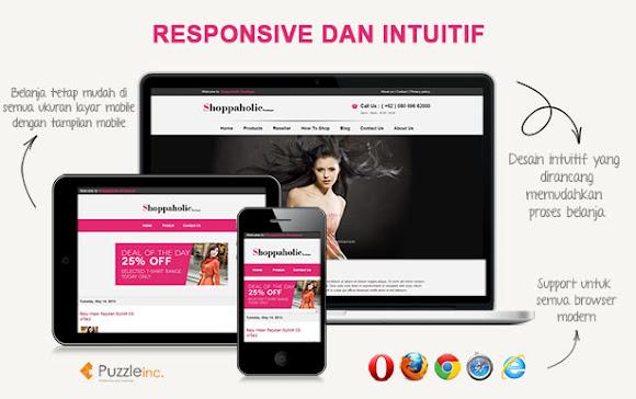 Download Shoppaholic Online Store Blogger Templates