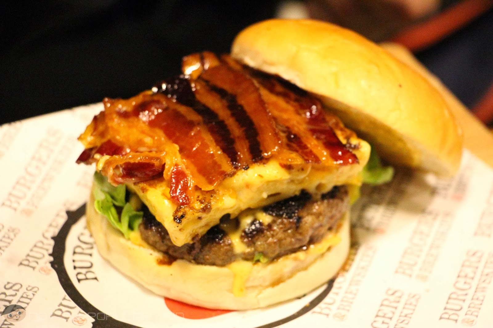 The heart-stopping Call the Nurse Burger of Burgers and Brewskies!