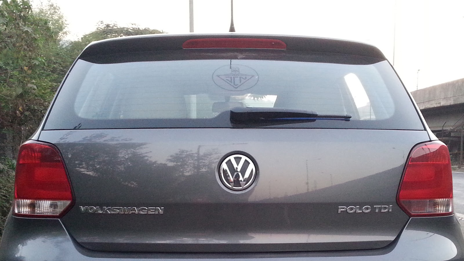Lt Blak's logo on his Volkswagen Polo