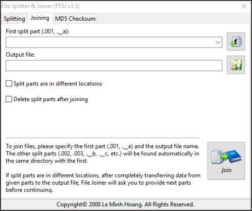 tampilan halaman joining pada software ffsj