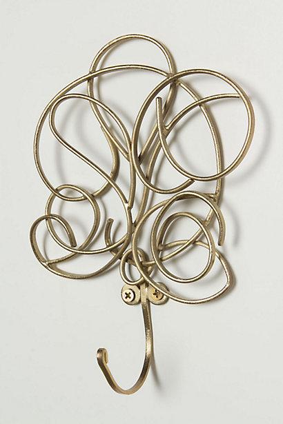 Whirled Metal Scroll Hook