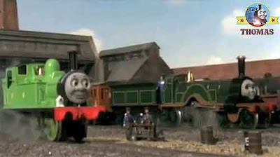Thomas and friends Oliver the great western engine the yard Emily's new coaches Annie and Clarabel