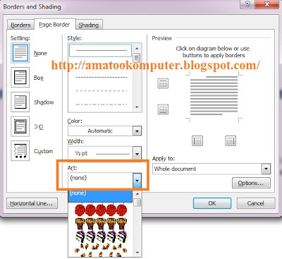 membuat border di word, membuat bingkai di word, tips word, microsoft