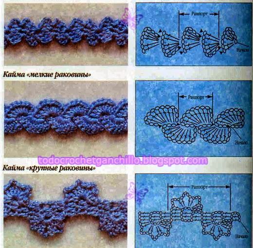 3 patrones de puntilla de doble lado