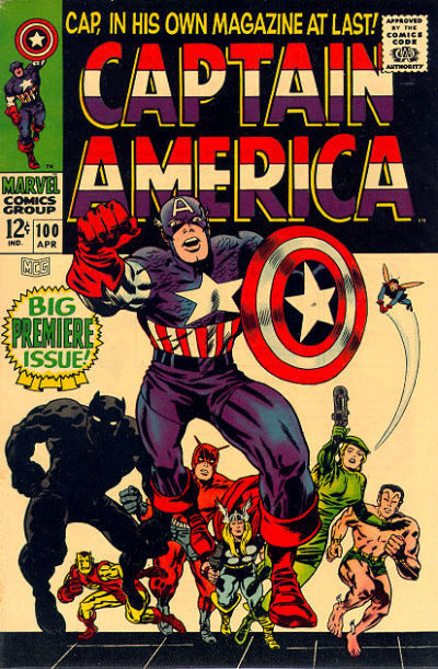 Vintage Comic Book Cover : Classic captain america comic book covers