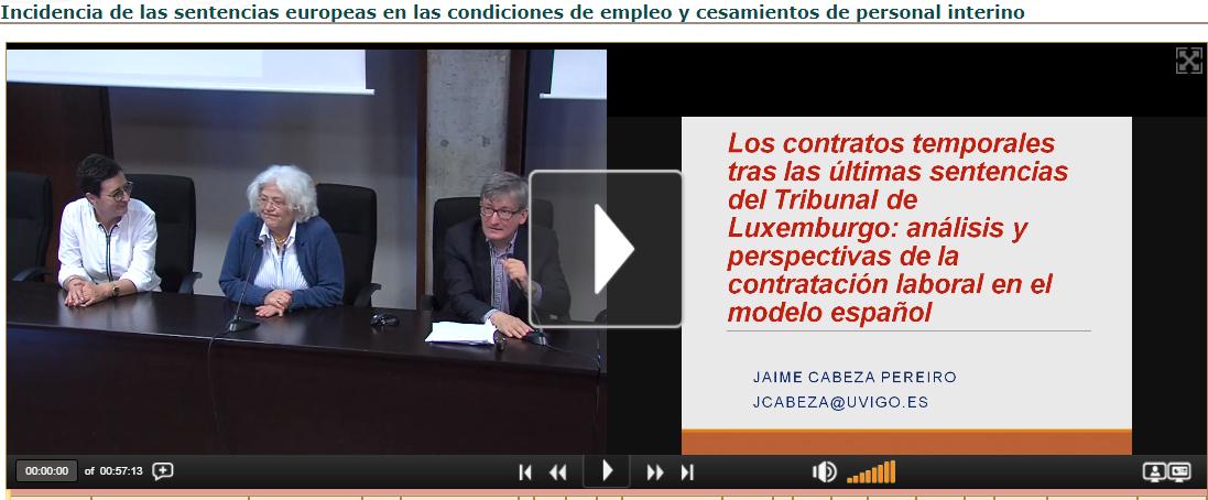 Incidencia de las sentencias europeas en las condiciones de empleo y cesamientos de personal interi
