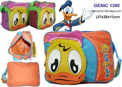 Tas Ransel Anak Sekolah Cewek Murah dan Bagus Genic 1380 - Donald Duck