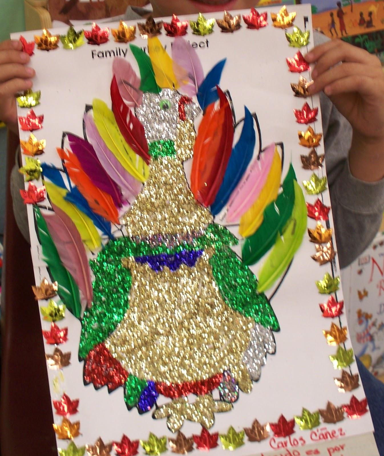 I heart my kinder kids family turkey project family turkey project maxwellsz