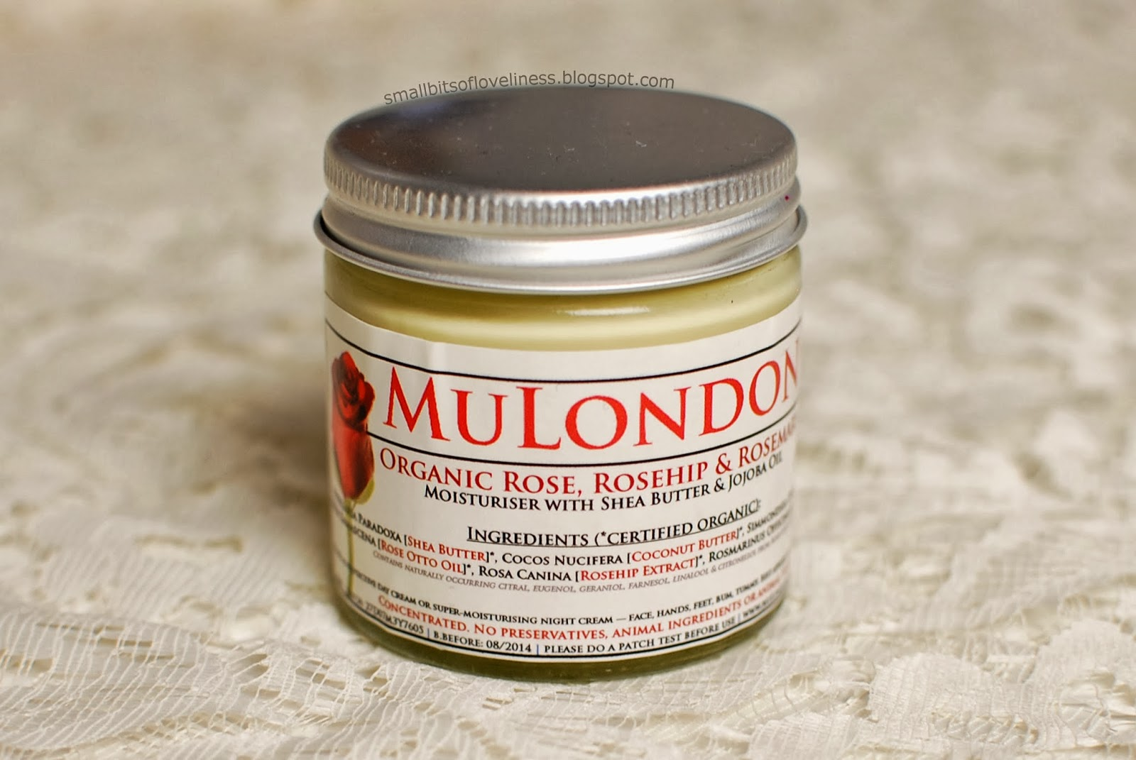 MuLondon Organic Rose, Rosehip & Rosemary Moisturiser