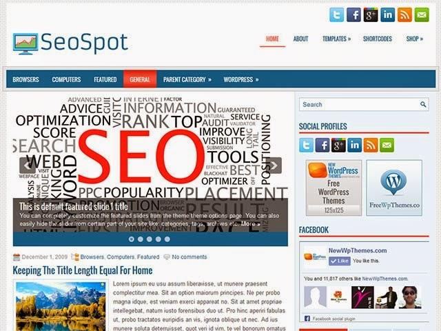 SeoSpot - Free Wordpress Theme