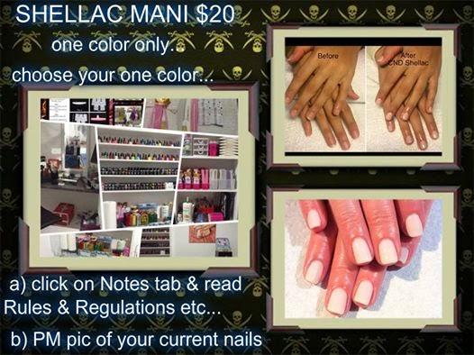 Shellac Manicure $20 FIFS