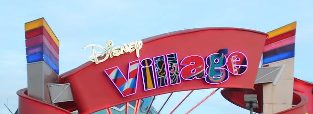 Disney Village sign