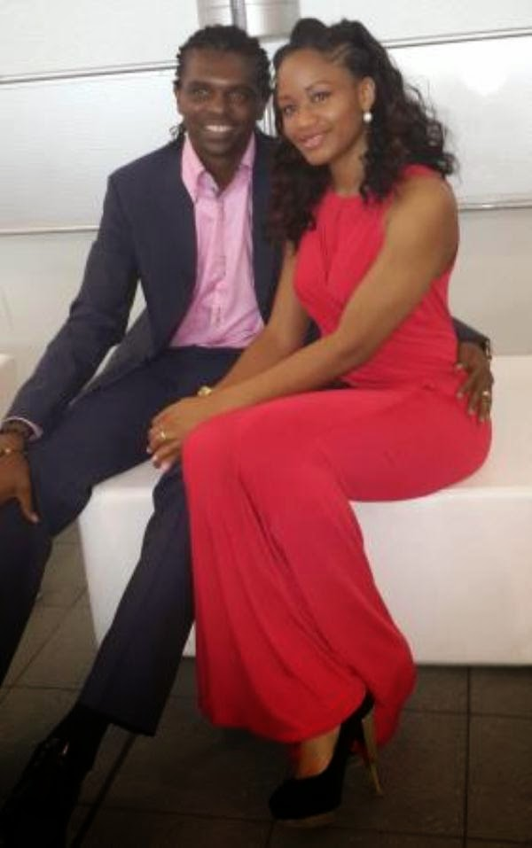 Photo of Kanu Nwankwo and his wife