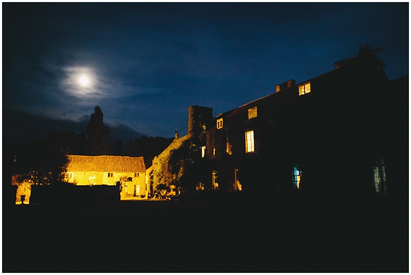Night time photograph of manor house in Somerset