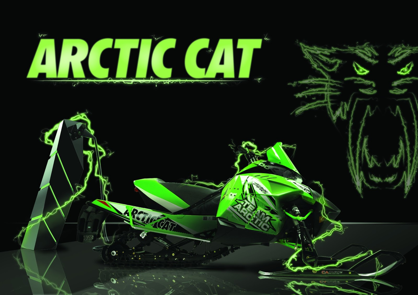Displaying 20> Images For - Green Arctic Cat Logo...