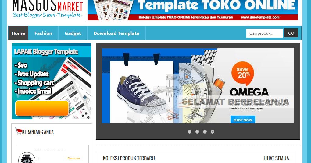 Template Toko Online Blogspot Gratis Super Keren - Cara