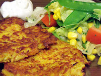 Rezept: Gemüsepuffer / Recipe: vegetarian fritters | http://panpancrafts.blogspot.de/