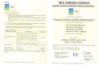 Сертификат  Европейского Союза ROHS Сентябрь 2006 г.