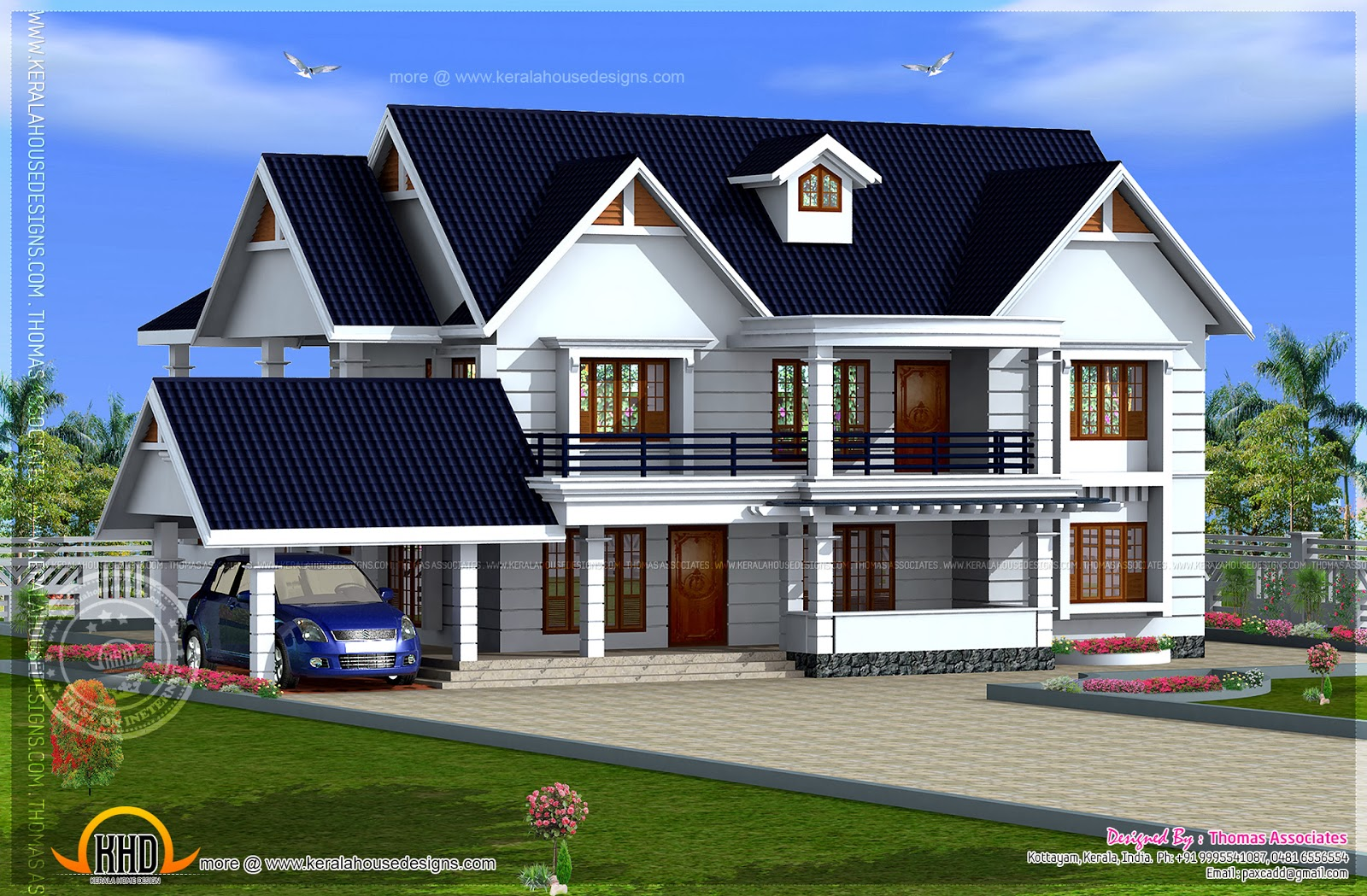 Luxury Residence Design In 3500 Square Feet Kerala Home