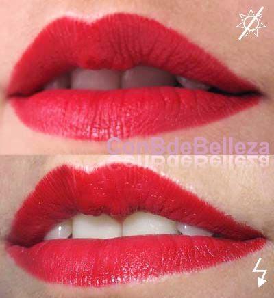 Swatch barra labios 01 Rojo Rimmel