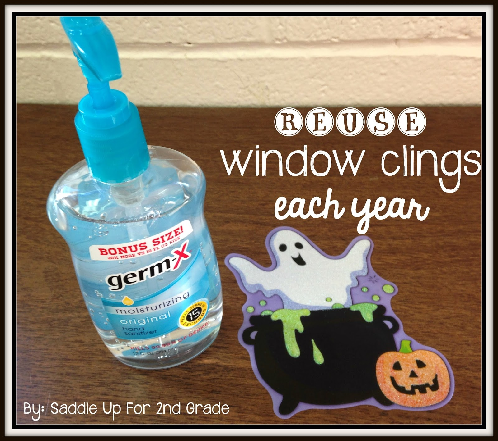 how to reuse window clings by saddle up for 2nd grade - Window Clings