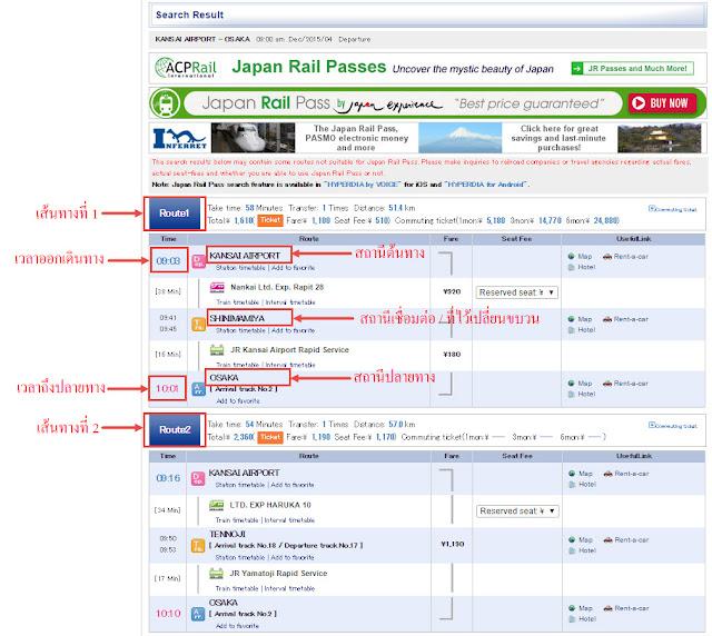 วิธีใช้ Hyperdia รถไฟ ญี่ปุ่น