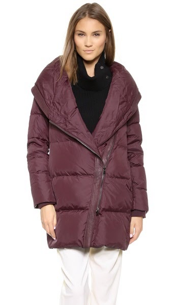 Shawl Collar Puffer Coat by: Vince @Shopbop