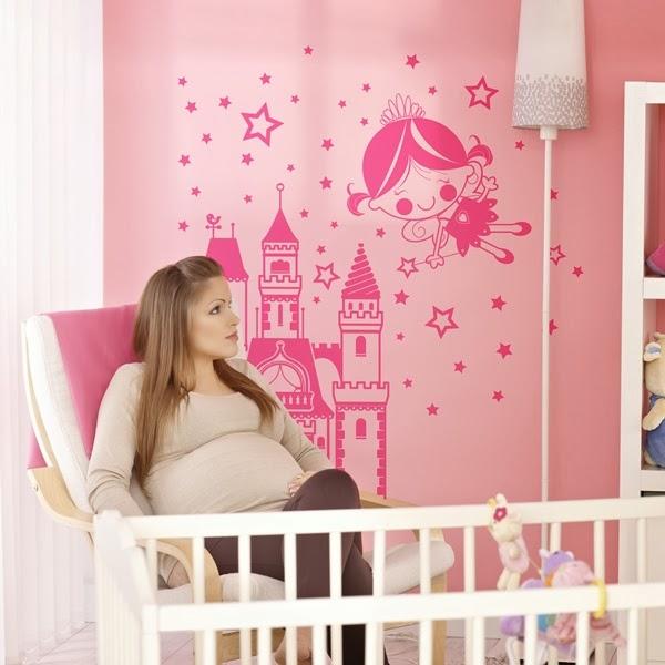 Papel pintado vinilos infantiles para paredes - Vinilos de hadas infantiles ...