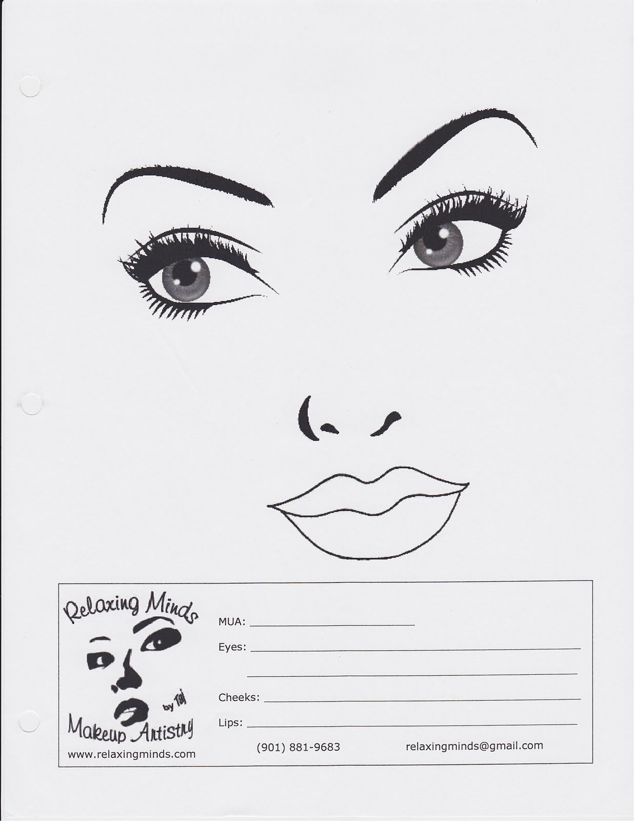 Blank Face For Makeup Blank Makeup Face Chart