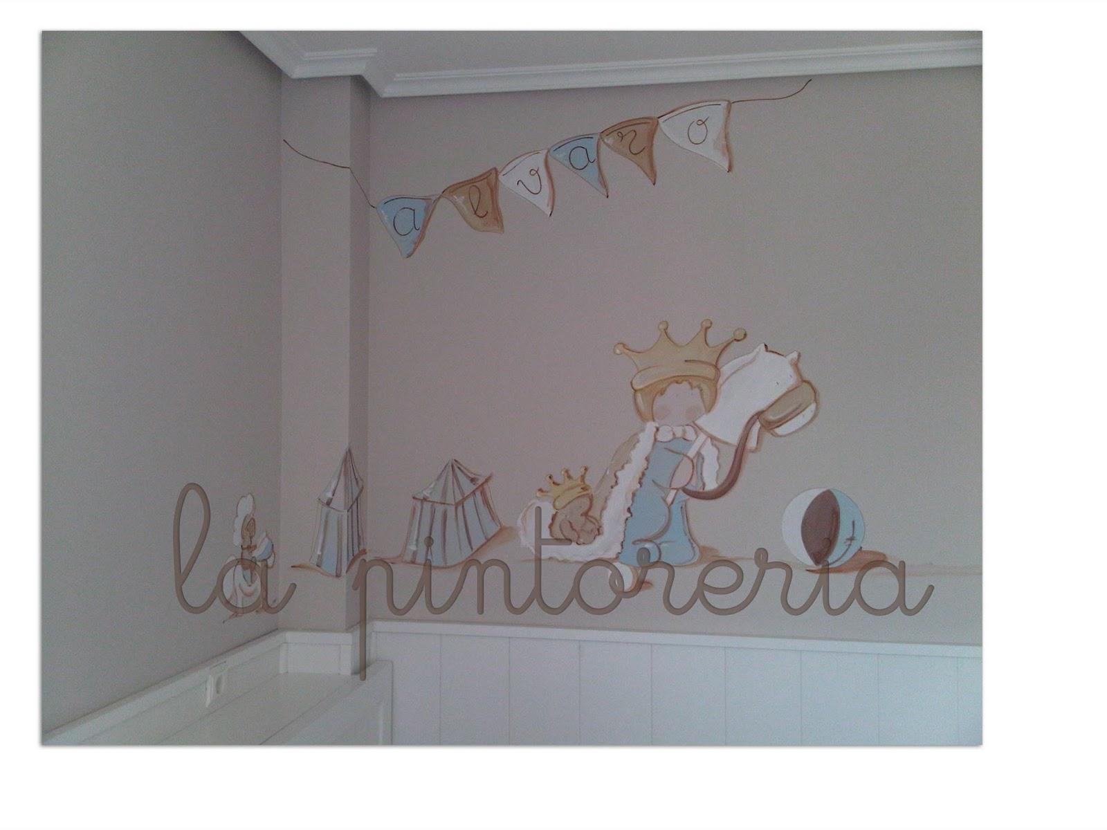 La pintorer a mural infantil para la habitaci n de alvaro for Mural para habitacion