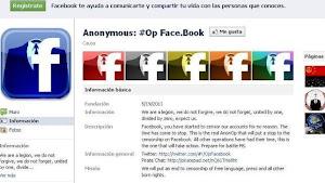 Anonymous planea «destruir» Facebook el 5 de noviembre