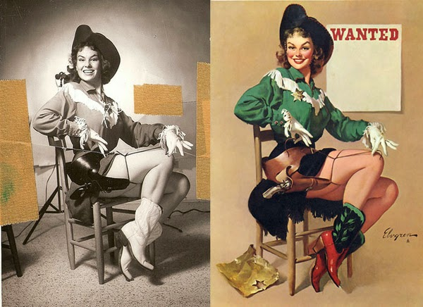 pin up paintings, real women behind pin up paintings-3