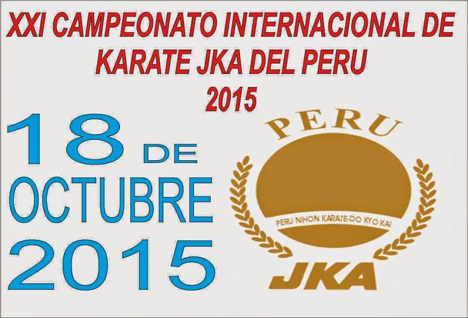 XXI CAMPEONATO INTERNACIONAL DE KARATE  JKA del Perú  Lima-Perù